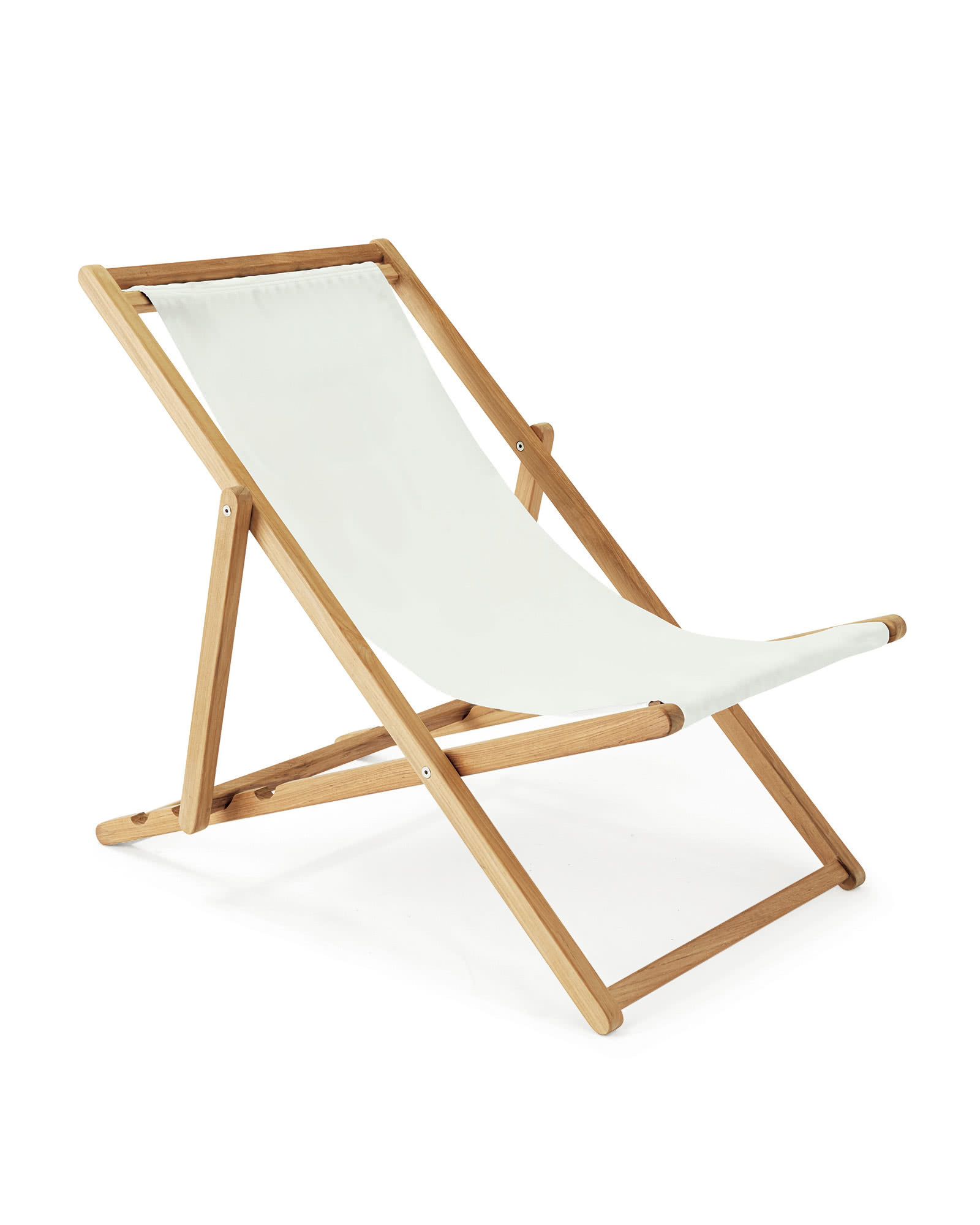 Fabric Only - Teak Sling Chair, Sunbrella White